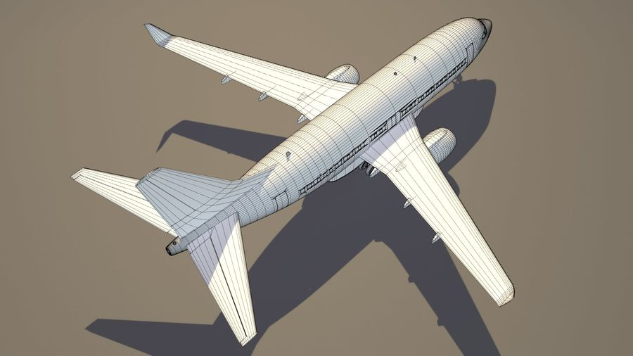 IndiGo Aircraft Airplane royalty-free 3d model - Preview no. 16