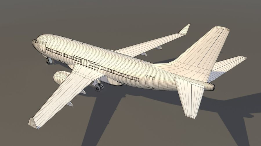 IndiGo Aircraft Airplane royalty-free 3d model - Preview no. 15