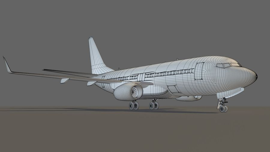 IndiGo Aircraft Airplane royalty-free 3d model - Preview no. 18