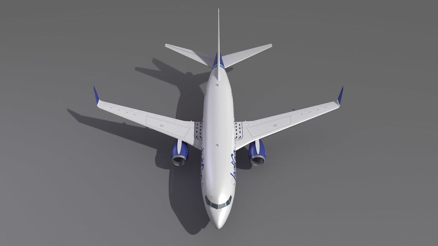 IndiGo Aircraft Airplane royalty-free 3d model - Preview no. 10
