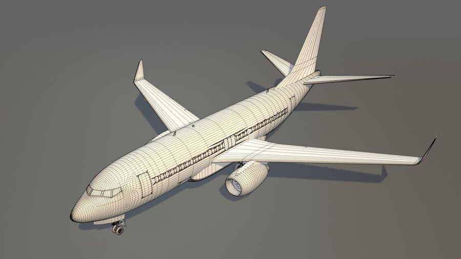 IndiGo Aircraft Airplane royalty-free 3d model - Preview no. 22