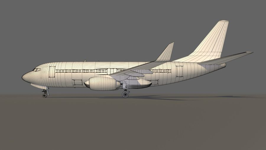 IndiGo Aircraft Airplane royalty-free 3d model - Preview no. 19