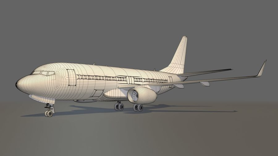 IndiGo Aircraft Airplane royalty-free 3d model - Preview no. 17