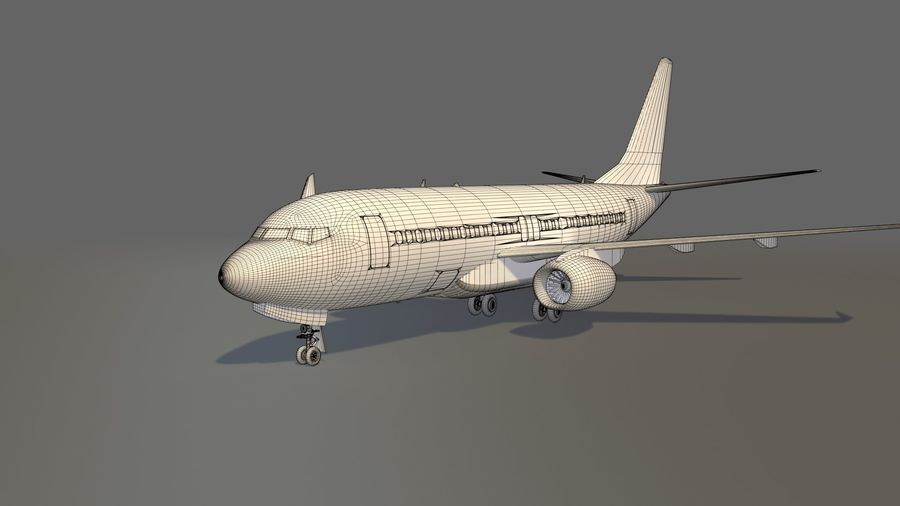 IndiGo Aircraft Airplane royalty-free 3d model - Preview no. 13