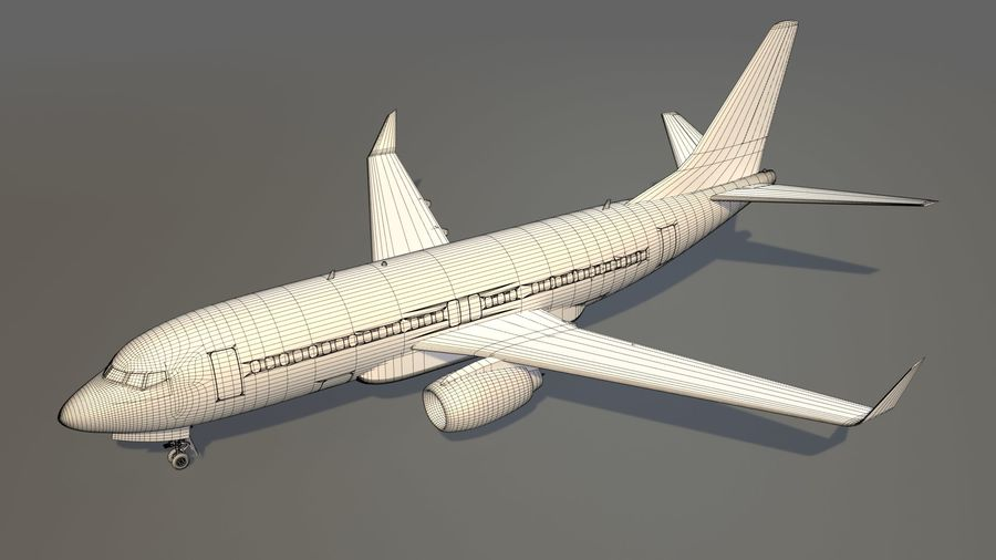 IndiGo Aircraft Airplane royalty-free 3d model - Preview no. 14