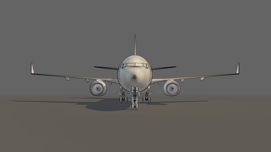 IndiGo Aircraft Airplane royalty-free 3d model - Preview no. 20