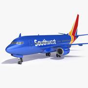 南西飛行機航空機 3d model