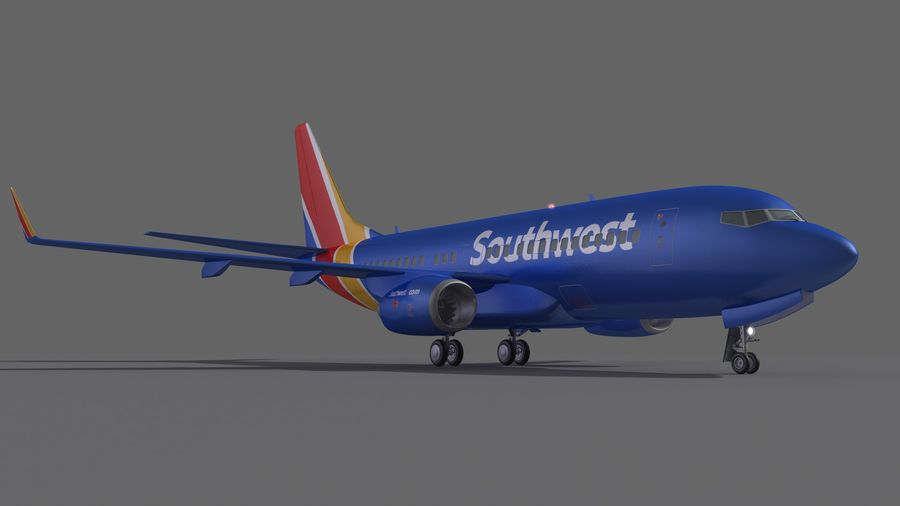 Southwest Airplane Aircraft royalty-free 3d model - Preview no. 7