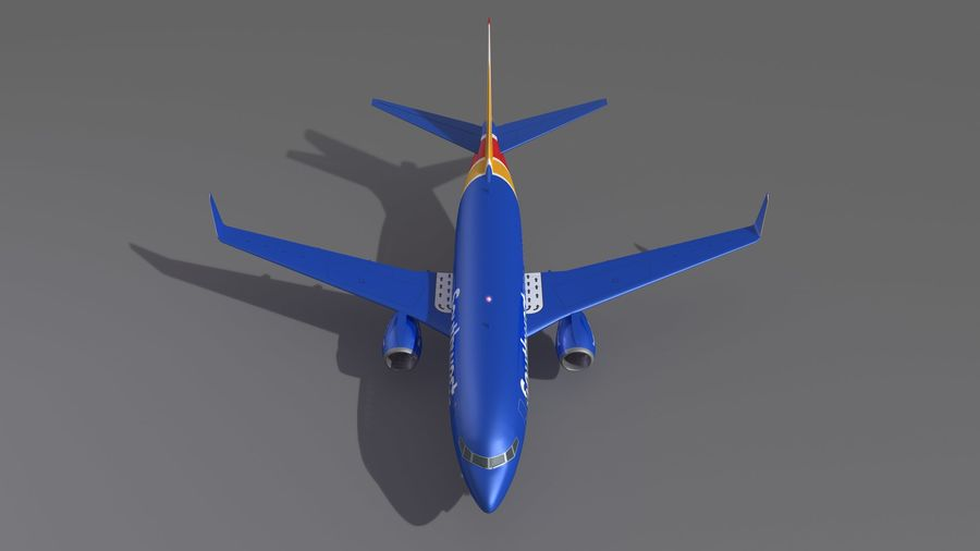 Southwest Airplane Aircraft royalty-free 3d model - Preview no. 10