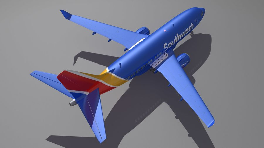 Southwest Airplane Aircraft royalty-free 3d model - Preview no. 5