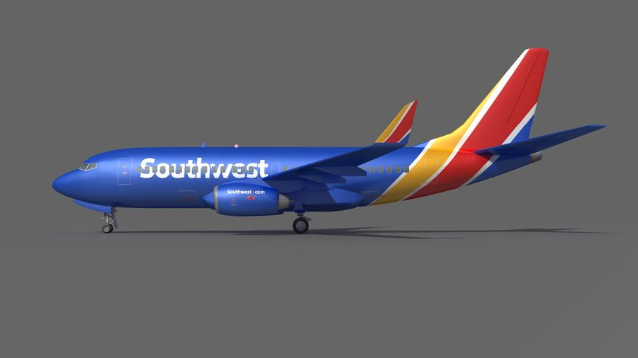 Southwest Airplane Aircraft royalty-free 3d model - Preview no. 8