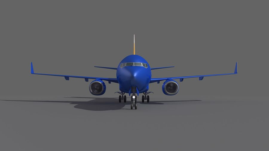 Southwest Airplane Aircraft royalty-free 3d model - Preview no. 9