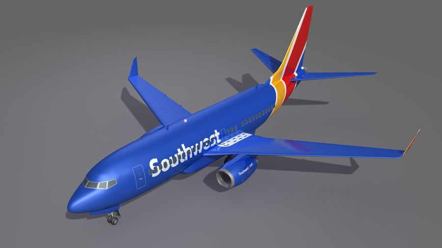 Southwest Airplane Aircraft royalty-free 3d model - Preview no. 11