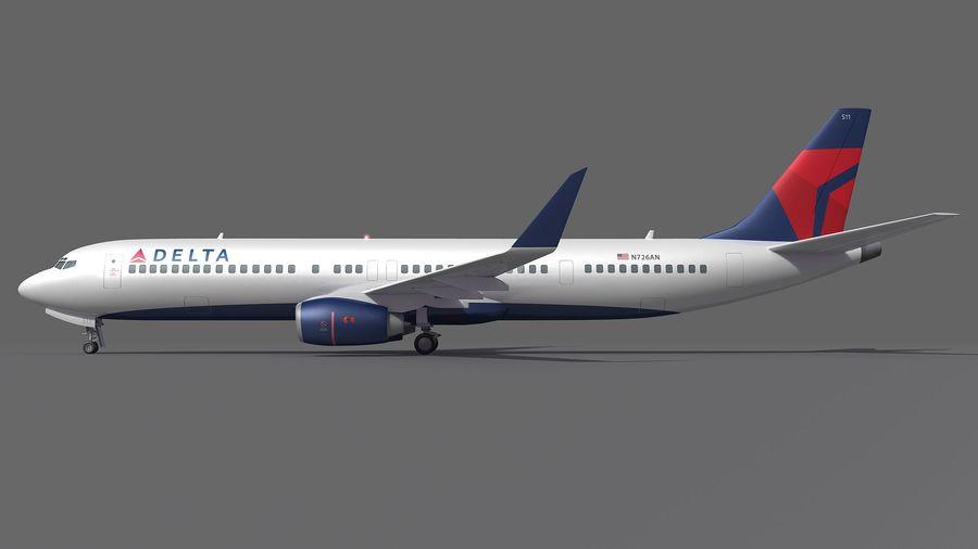 델타 항공 비행기 항공기 royalty-free 3d model - Preview no. 8