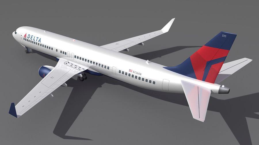 델타 항공 비행기 항공기 royalty-free 3d model - Preview no. 4