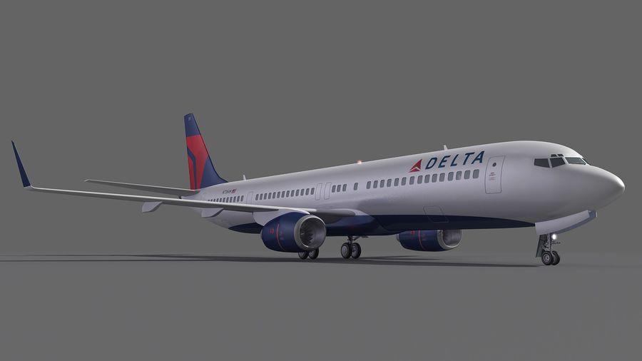 델타 항공 비행기 항공기 royalty-free 3d model - Preview no. 7
