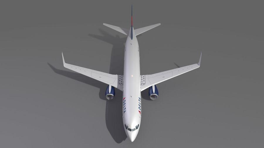 델타 항공 비행기 항공기 royalty-free 3d model - Preview no. 10