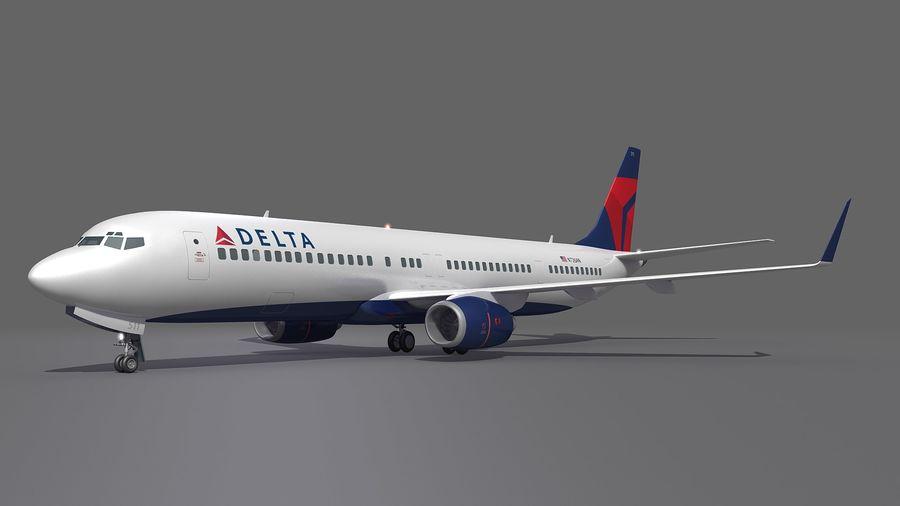 델타 항공 비행기 항공기 royalty-free 3d model - Preview no. 6