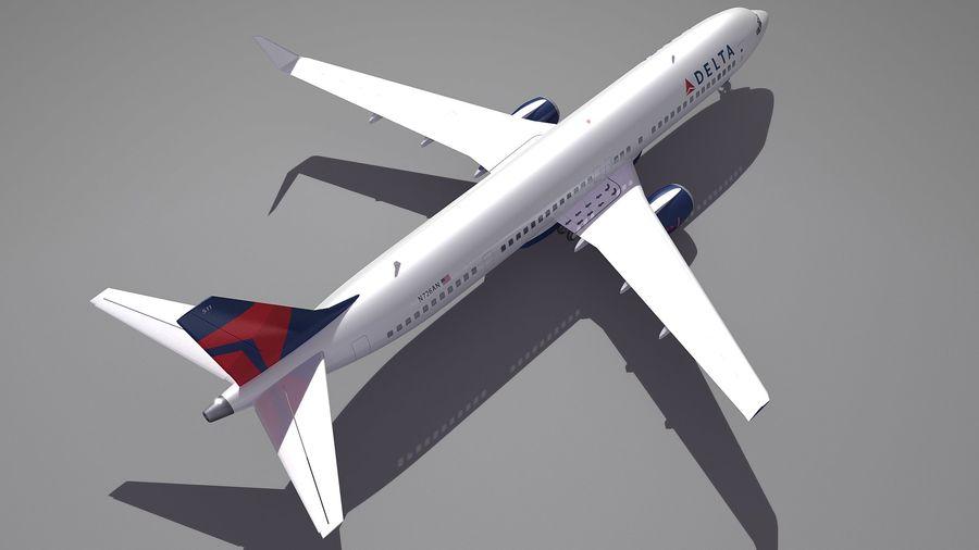 델타 항공 비행기 항공기 royalty-free 3d model - Preview no. 5