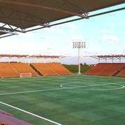 Stade de terrain de football 3d model