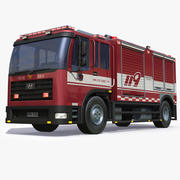 Firetruck coreano 1 3d model