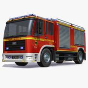 Немецкая пожарная машина 3d model