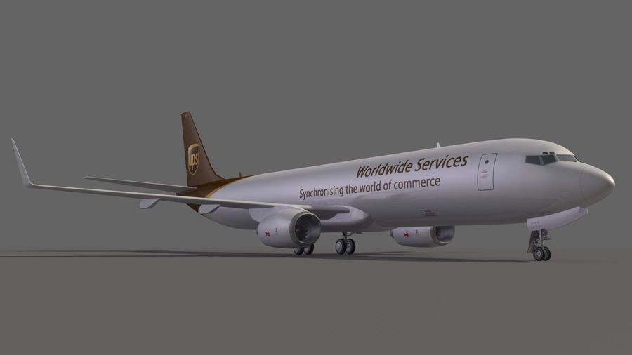 UPS Cargo Aircraft Airplane royalty-free 3d model - Preview no. 7