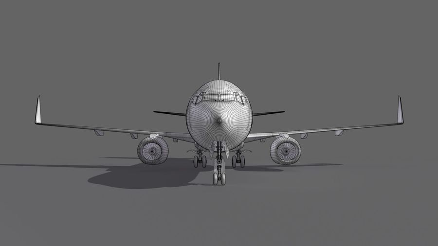 UPS Cargo Aircraft Airplane royalty-free 3d model - Preview no. 19