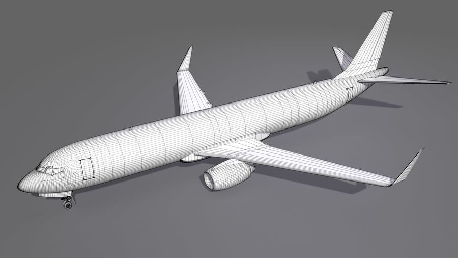 UPS Cargo Aircraft Airplane royalty-free 3d model - Preview no. 13