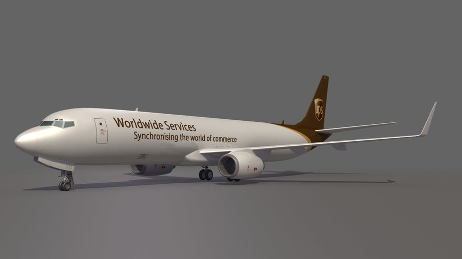 UPS Cargo Aircraft Airplane royalty-free 3d model - Preview no. 6