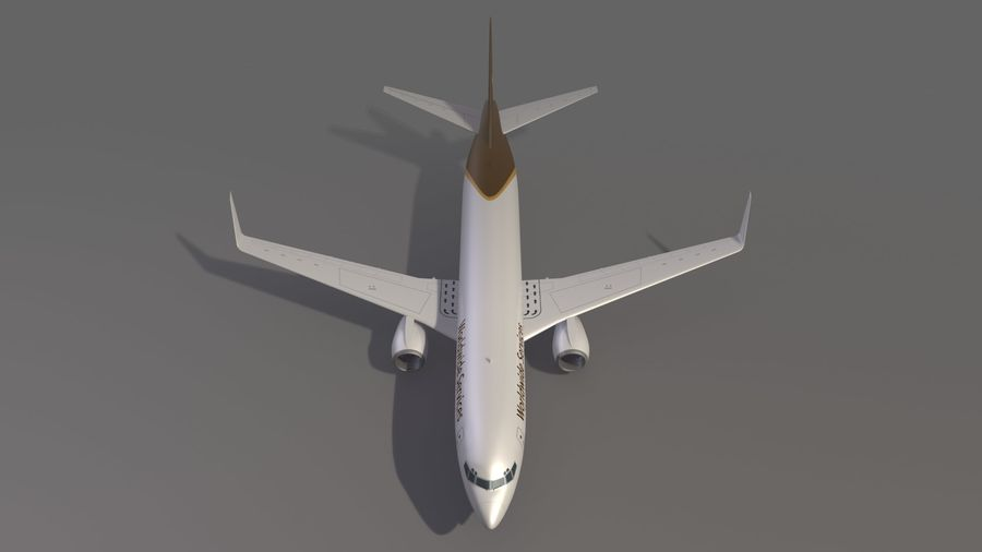 UPS Cargo Aircraft Airplane royalty-free 3d model - Preview no. 10
