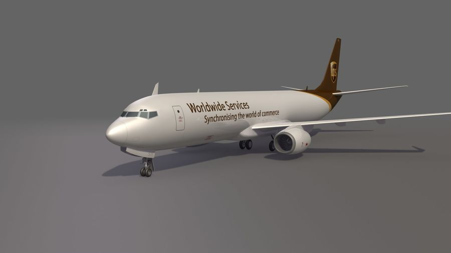 UPS Cargo Aircraft Airplane royalty-free 3d model - Preview no. 2