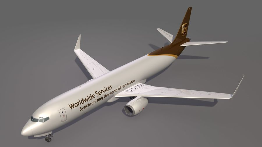 UPS Cargo Aircraft Airplane royalty-free 3d model - Preview no. 11