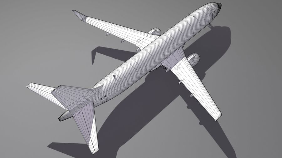 UPS Cargo Aircraft Airplane royalty-free 3d model - Preview no. 15