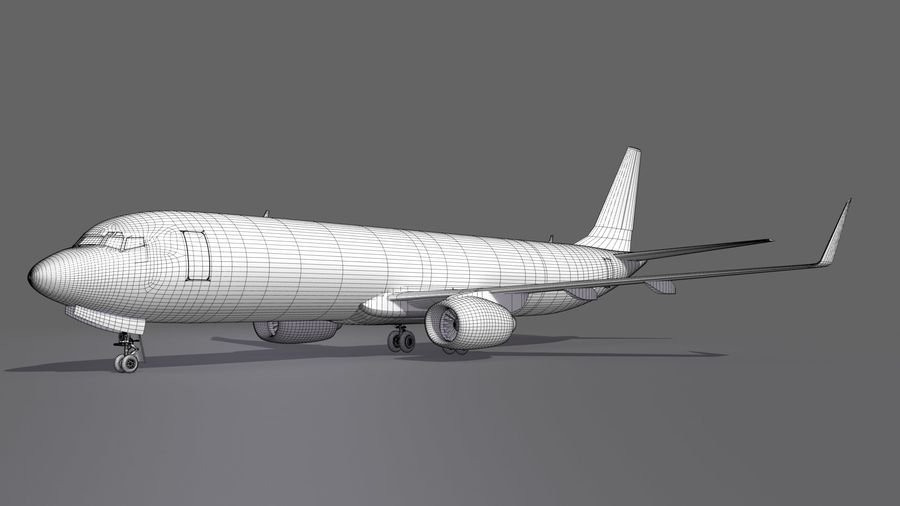 UPS Cargo Aircraft Airplane royalty-free 3d model - Preview no. 16