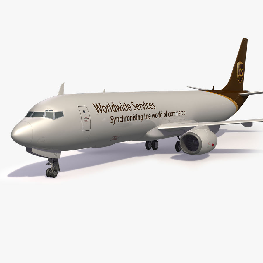 UPS Cargo Aircraft Airplane royalty-free 3d model - Preview no. 1