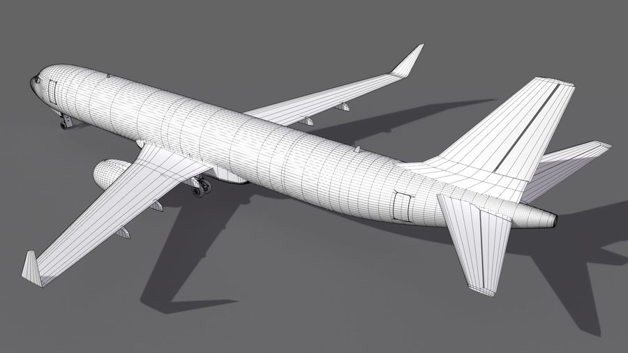 UPS Cargo Aircraft Airplane royalty-free 3d model - Preview no. 14
