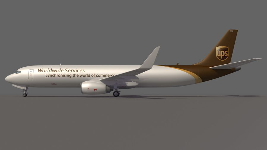 UPS Cargo Aircraft Airplane royalty-free 3d model - Preview no. 8