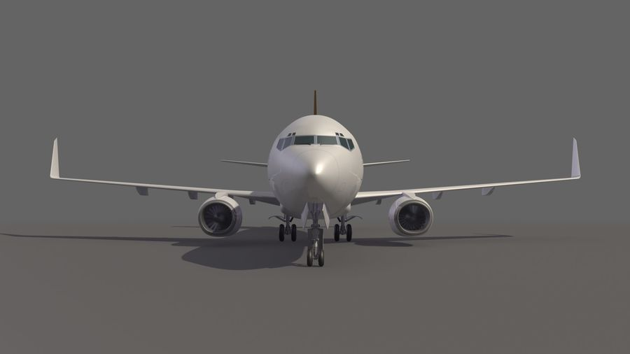 UPS Cargo Aircraft Airplane royalty-free 3d model - Preview no. 9