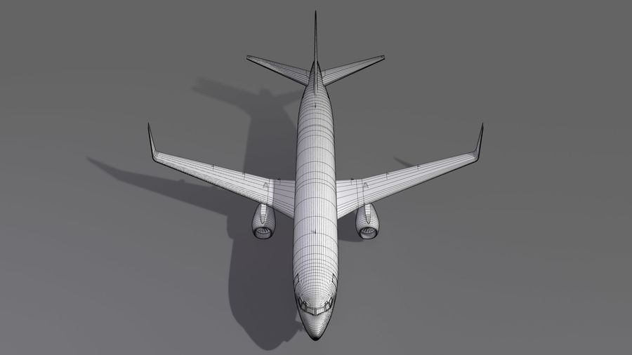 UPS Cargo Aircraft Airplane royalty-free 3d model - Preview no. 20