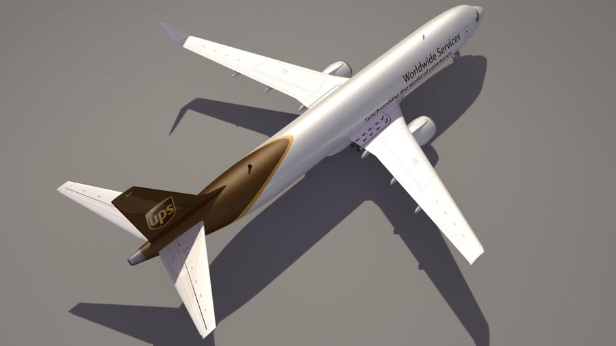 UPS Cargo Aircraft Airplane royalty-free 3d model - Preview no. 5