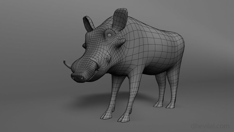 Maglia base Warthog royalty-free 3d model - Preview no. 3