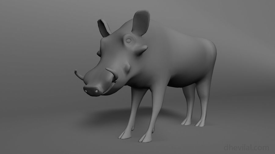 Maglia base Warthog royalty-free 3d model - Preview no. 1