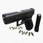 Model pistoletu Fa Glock 3d model