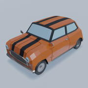 Low Poly Car - kombi 3d model