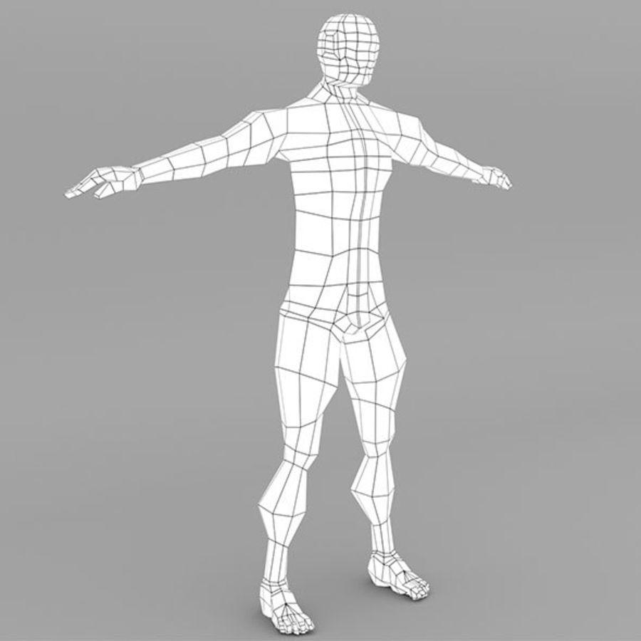 男性ベースメッシュ royalty-free 3d model - Preview no. 6
