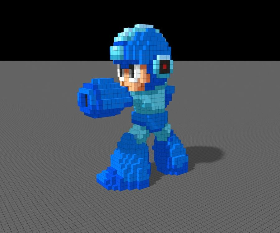 Mega Man 3D royalty-free modelo 3d - Preview no. 4