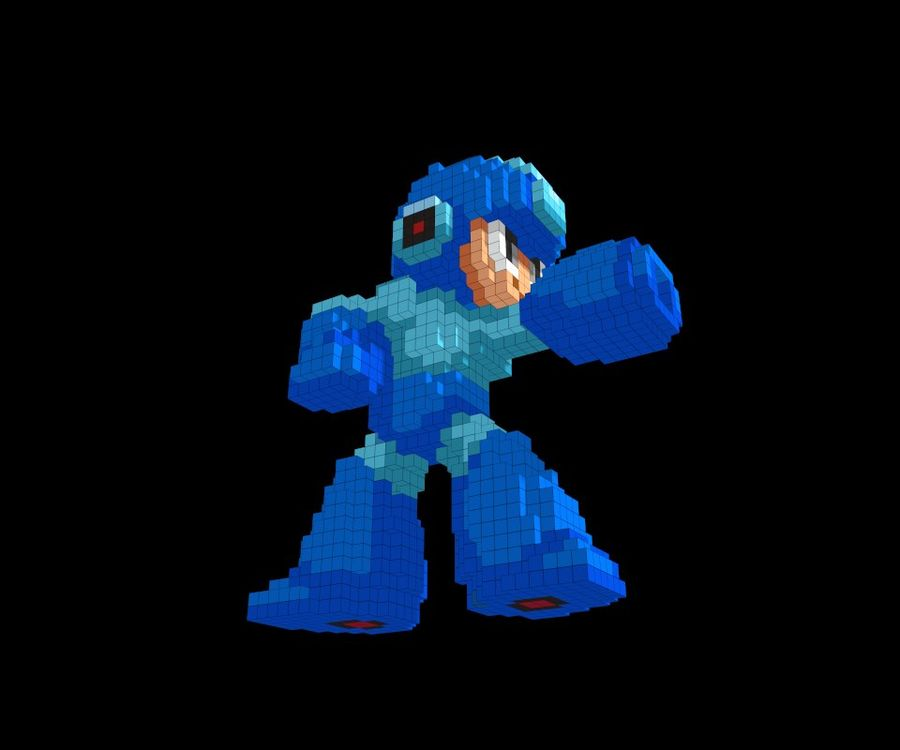 Mega Man 3D royalty-free modelo 3d - Preview no. 5