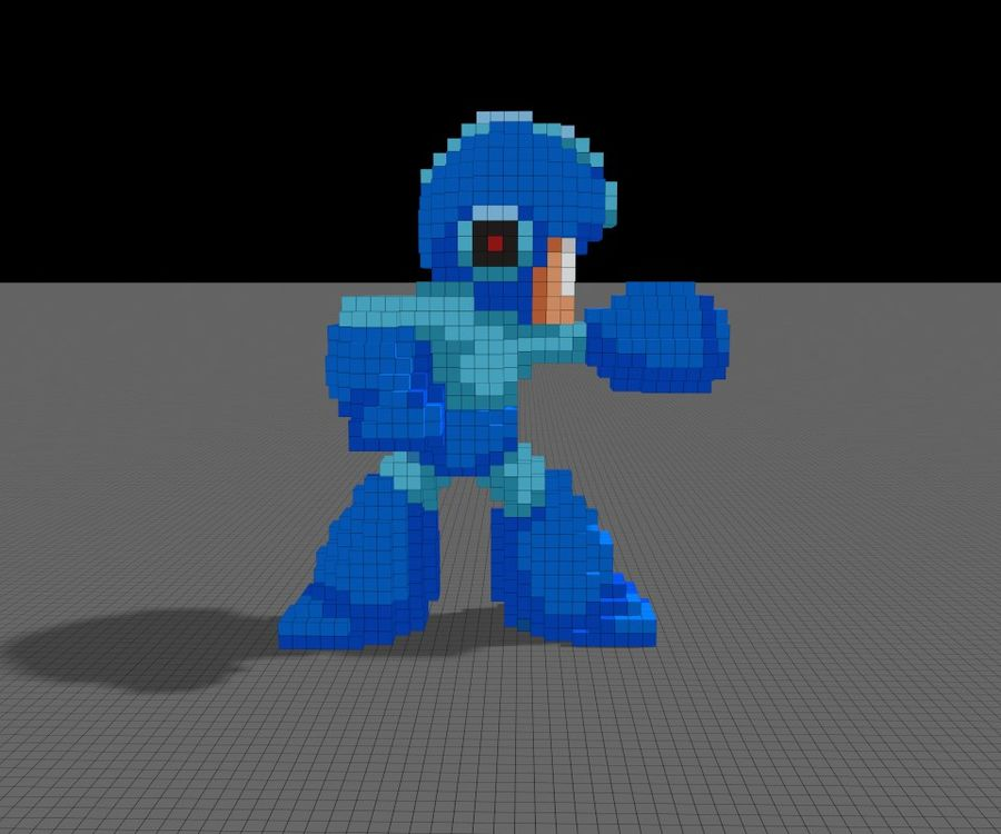 Mega Man 3D royalty-free modelo 3d - Preview no. 2