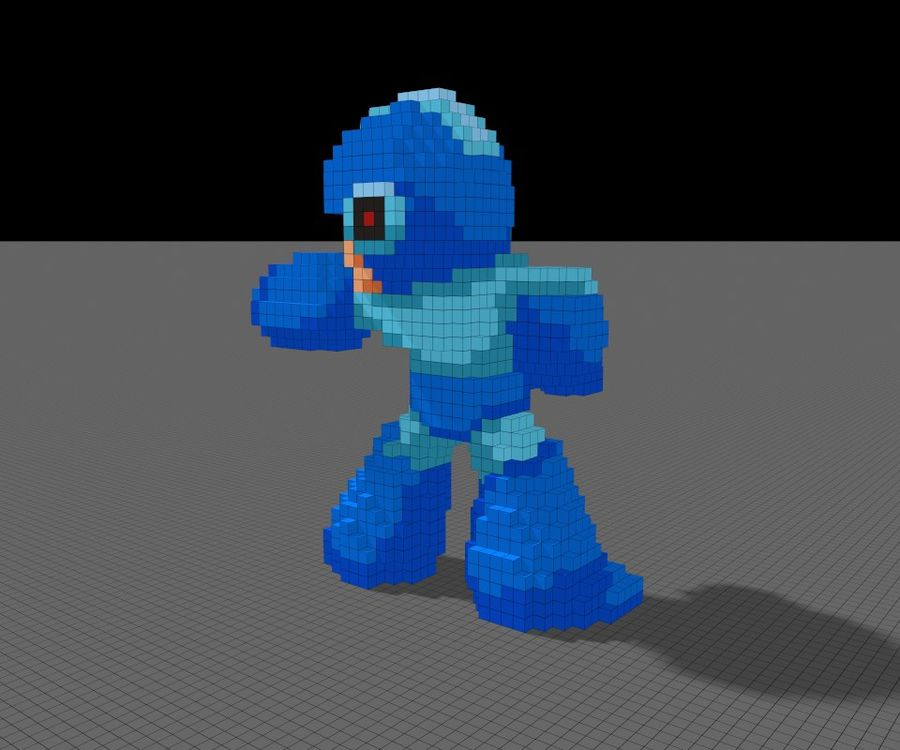 Mega Man 3D royalty-free 3d model - Preview no. 3